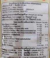 น้ำมันปาล์ม - Informations nutritionnelles - th