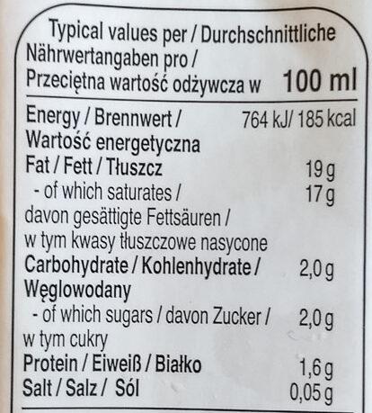 Lait de noix de coco - Nährwertangaben - de