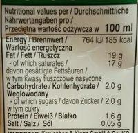 Aroy-D, 100% Coconut Milk, Original - Informations nutritionnelles - fr