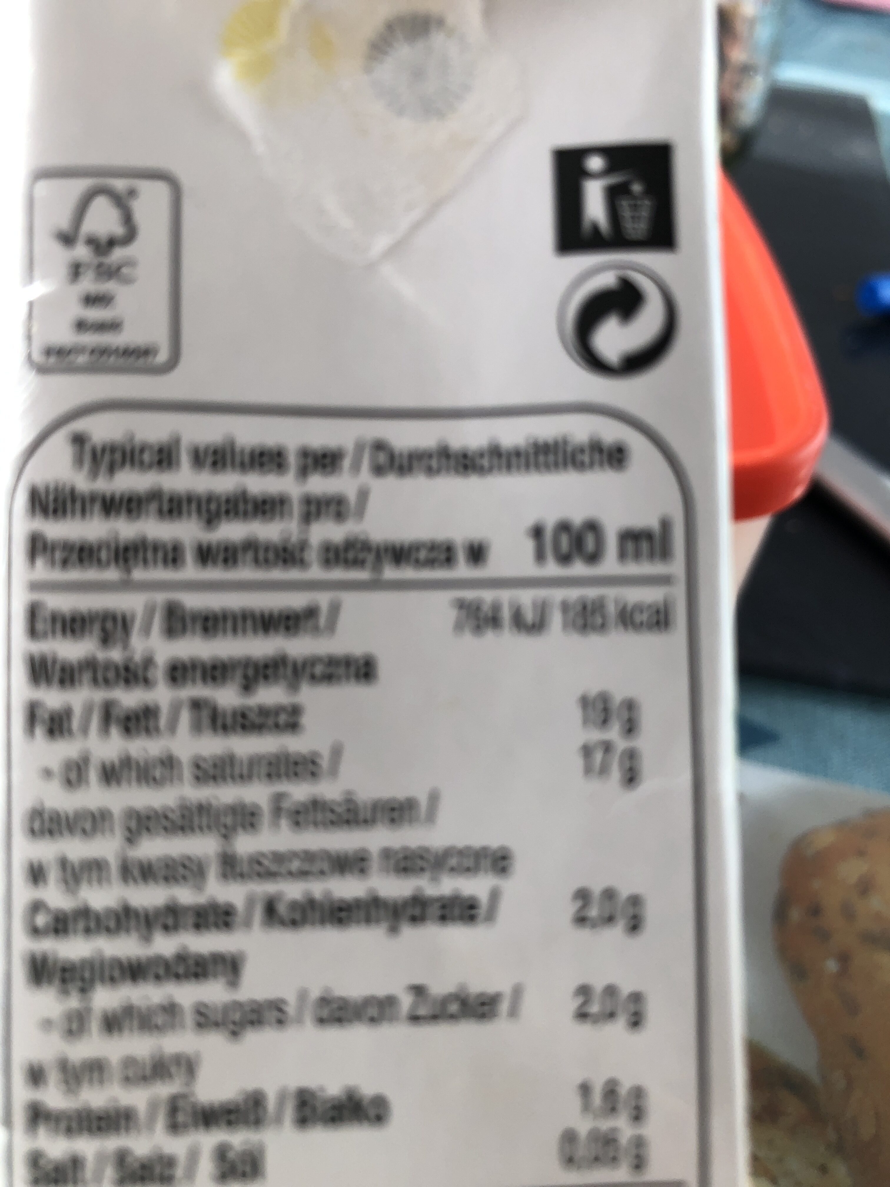 Lait de noix de coco - Recycling instructions and/or packaging information - fr