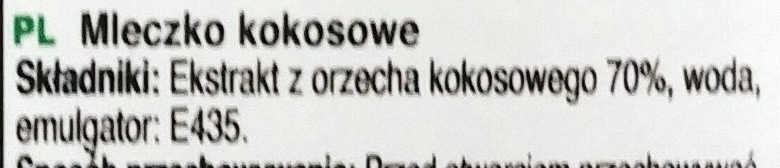 Coconut milk - Składniki