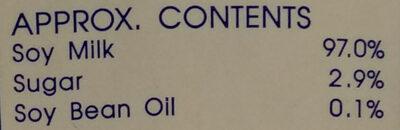 ดีน่าสูตรน้ำตาลน้อย ลดไขมัน - Ingredients