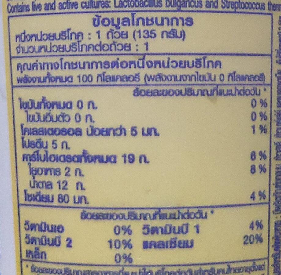 ดัชชี่ แมคคาเดเมีย - Informations nutritionnelles - th