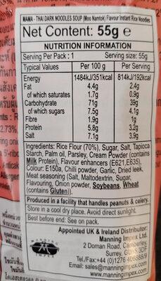 Mama - Nutrition facts - en