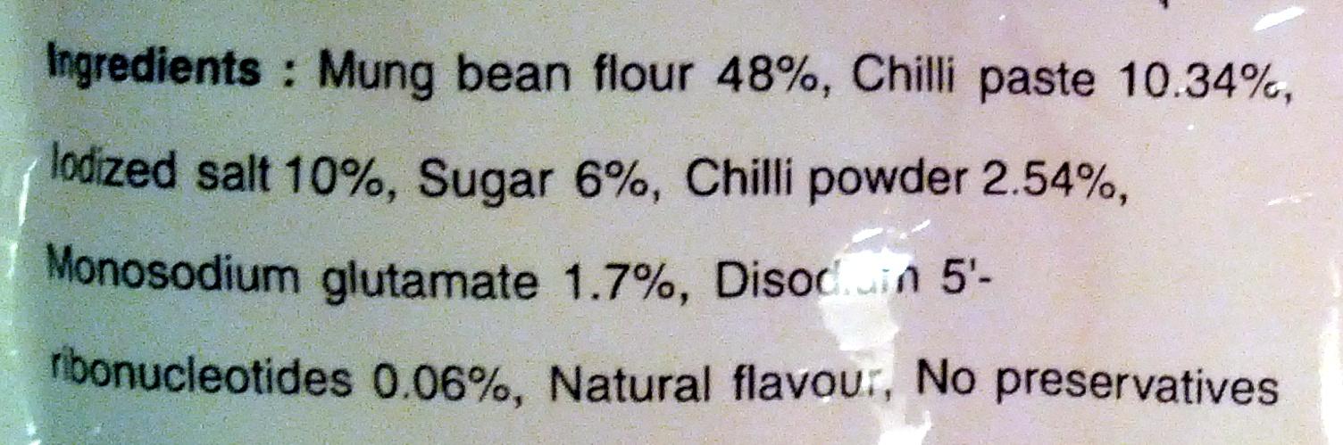 Mama bean vermicelli - Ingredients - en