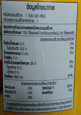 ข้าวต้มคัพรสหมูสับกระเทียมพริกไทย - Nutrition facts