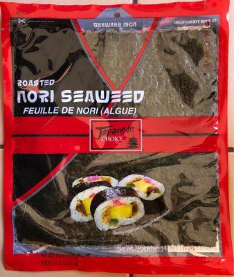 Roasted Nori Seaweed - Feuille de nori (algue) - Produit