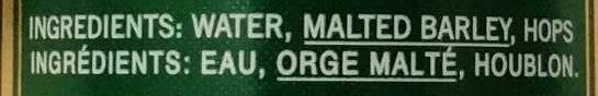 Lager - Ingredients - en