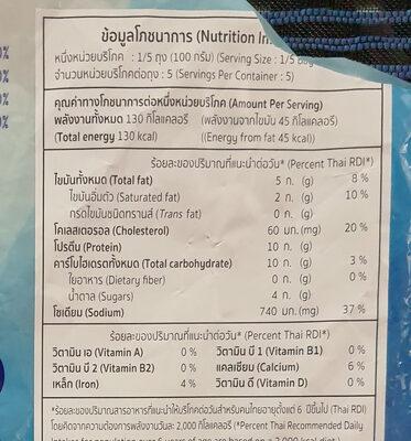 ปลาม้วนไส้ไข่เค็ม - Voedingswaarden - th