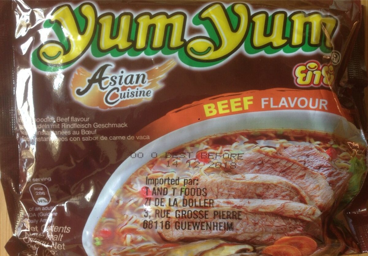 Noodles instantané goût boeuf - Produkt
