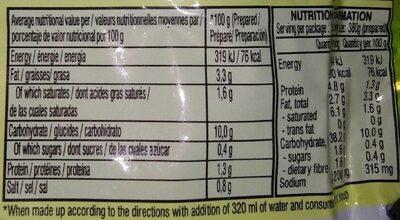 Chicken Flavour - Informations nutritionnelles - en