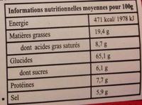 Instant noodles shrimp flavour - Nutrition facts
