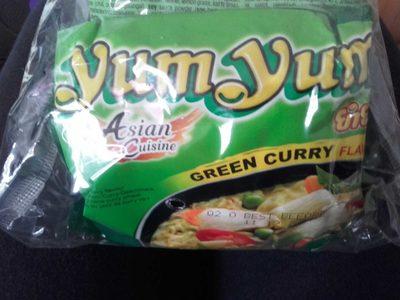 calorie Nouilles Asiatiques Saveur Curry Vert