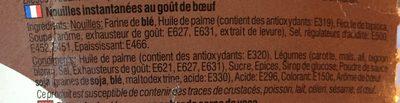 Nouilles Yumyum Boeuf Bol - Ingredients - fr