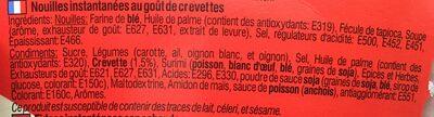 Cup Soupe Crevette Yum Yum - Ingrédients - fr