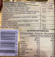 Yumyum - Informations nutritionnelles