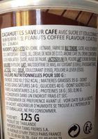 Cacahuète Goût Café 125G - Ingrédients