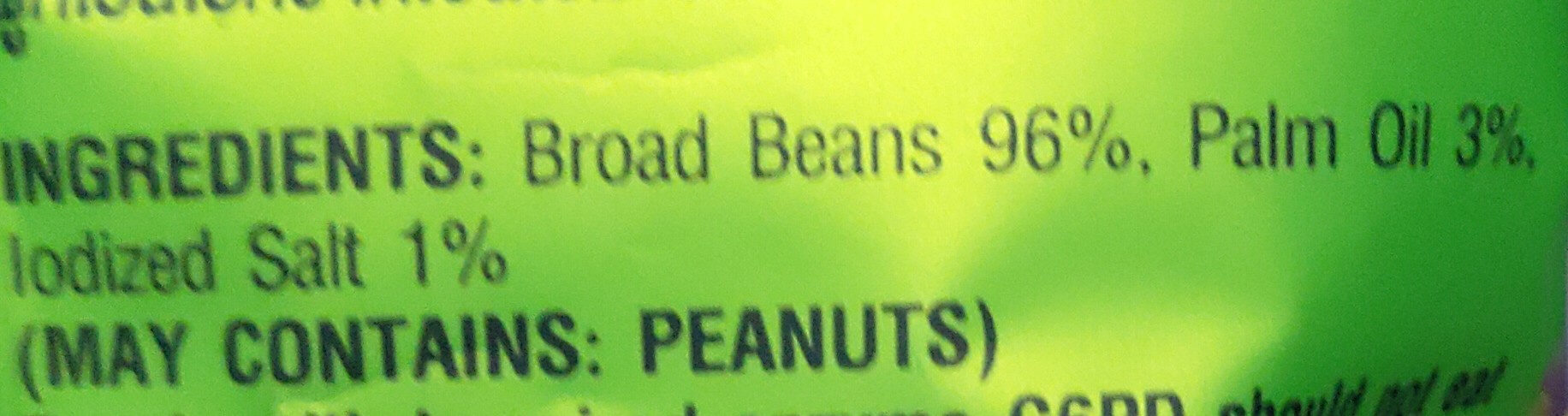 Salted broad bean - Ingredients - en