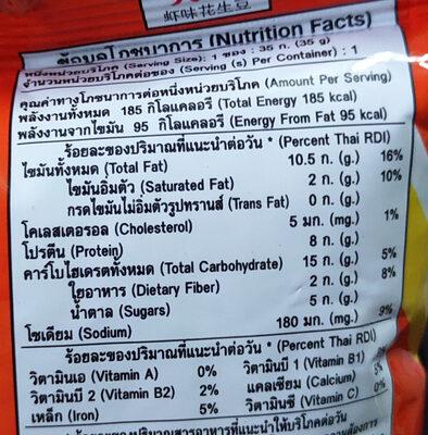 ถั่วโก๋แก่รสกุ้ง - Informations nutritionnelles - th