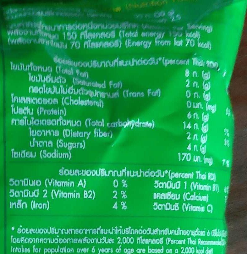โก๋แก่รสโนริวาซาบิ - Nutrition facts