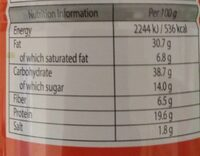 Peanuts sriracha chilli - Informations nutritionnelles - en