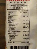 Crackers Crevettes 015 G - Informations nutritionnelles - fr