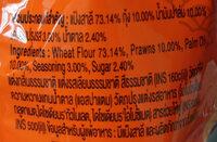 ข้าวเกรียบกุ้งฮานามิรสฮอตชิลลี่ - Ingredients