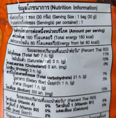 ข้าวเกรียบกุ้งฮานามิรสฮอตชิลลี่ - Nutrition facts