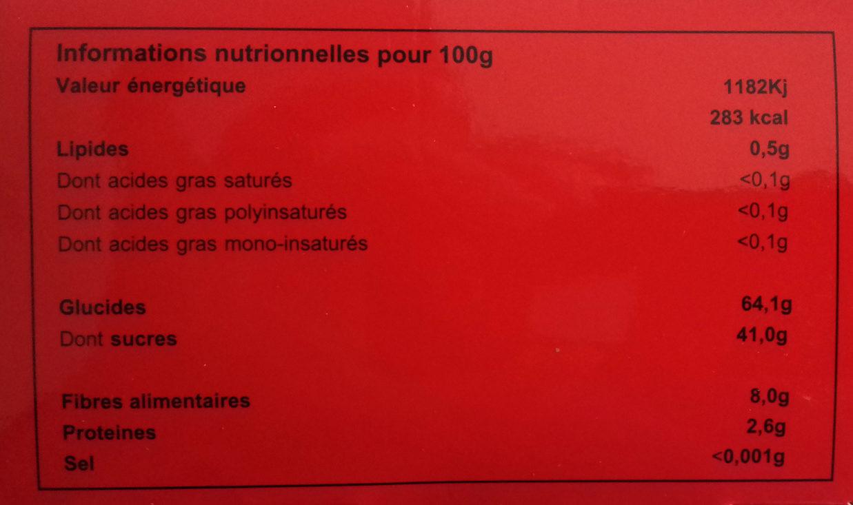 Sweet tamarind - Información nutricional - es