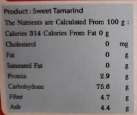 Sweet tamarind - Informations nutritionnelles - fr