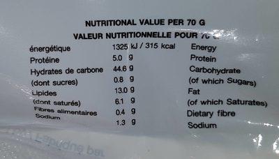 Nouilles Instantanées - Voedingswaarden - fr