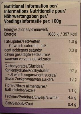 Happy bites - Giá trị dinh dưỡng - fr