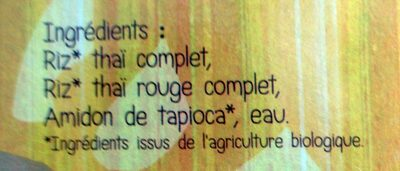 Vermicelles de riz thaï rouge - Ingredients - fr