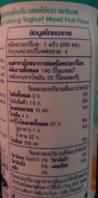 นมเปรี้ยวรสผลไม้รวม - Nutrition facts - th