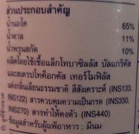 นมเปรี้ยวรสลูกพรุน - Ingredients - th