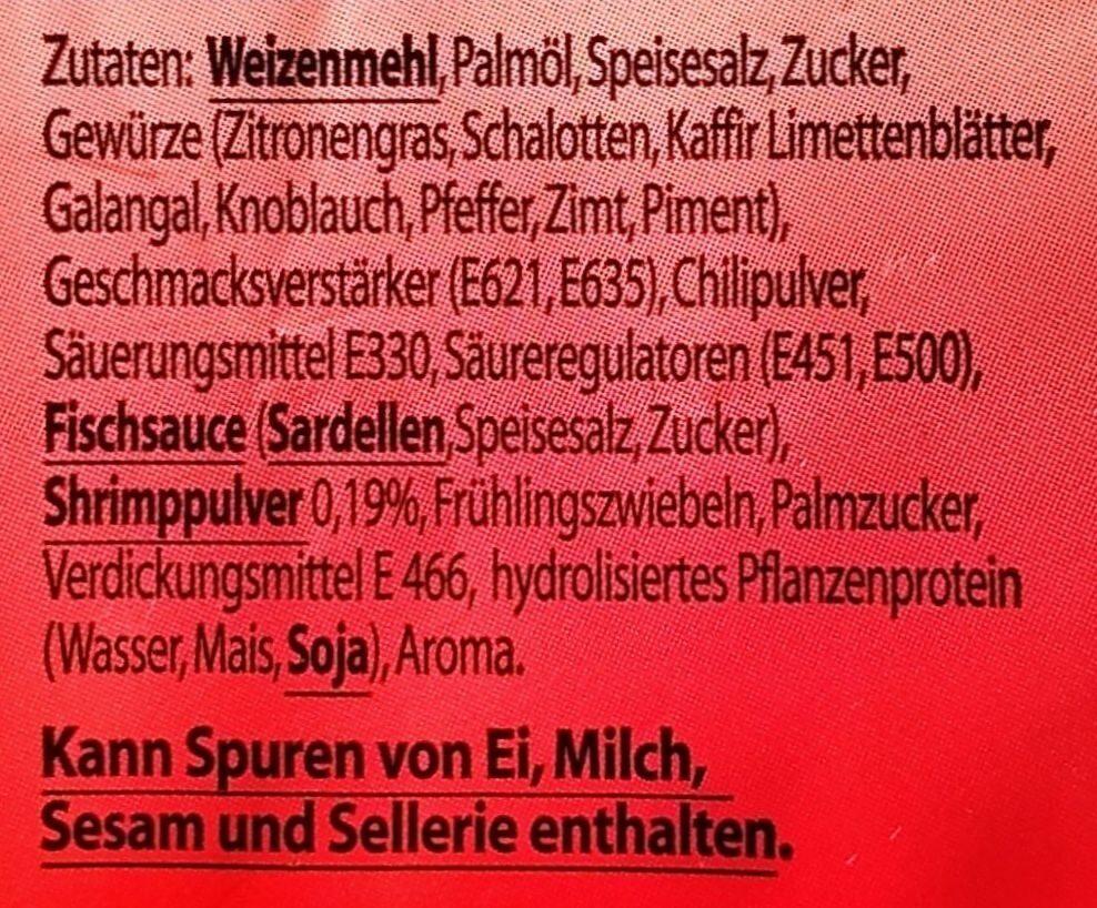 Instant Nudelsuppe - Typ Shrimp - Ingrédients - de