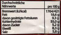 Instantsuppe, Ente - Informations nutritionnelles - de