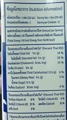 นมจืด - Voedingswaarden