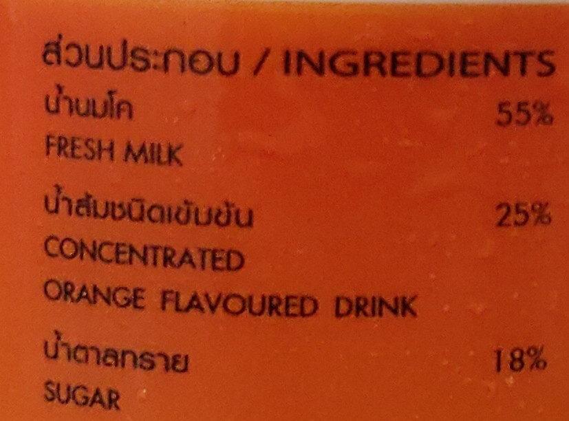 นมเปรี้ยวรสส้ม - Ingredients