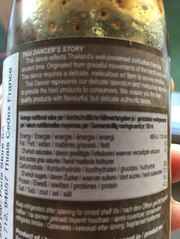 (clearance) Thai Dancer Black Pepper Sauce - Nutrition facts