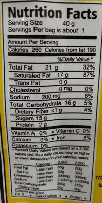Samui Coconut Chips - 营养成分 - en