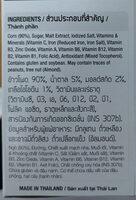 Kelloggs Corn FLKS 150GM - Ingrédients - en