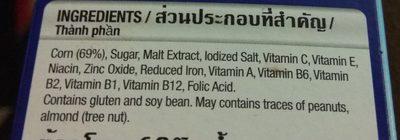 Kellogg's Frosties Breakfast Cereal - Ingredients - en