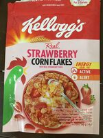 Real strawberry corn flakes - Product