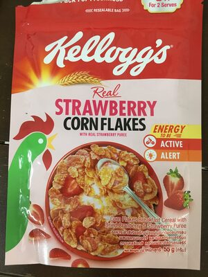 Real strawberry corn flakes - Produit