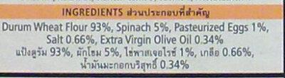 พาสต้าเฟตตูชินี่ ผักโขม - Ingredients