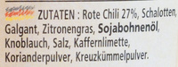 Rote curry paste - Ingredients