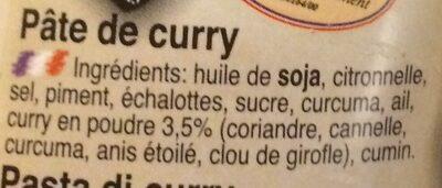 Gelbe Curry Paste - Ingrédients