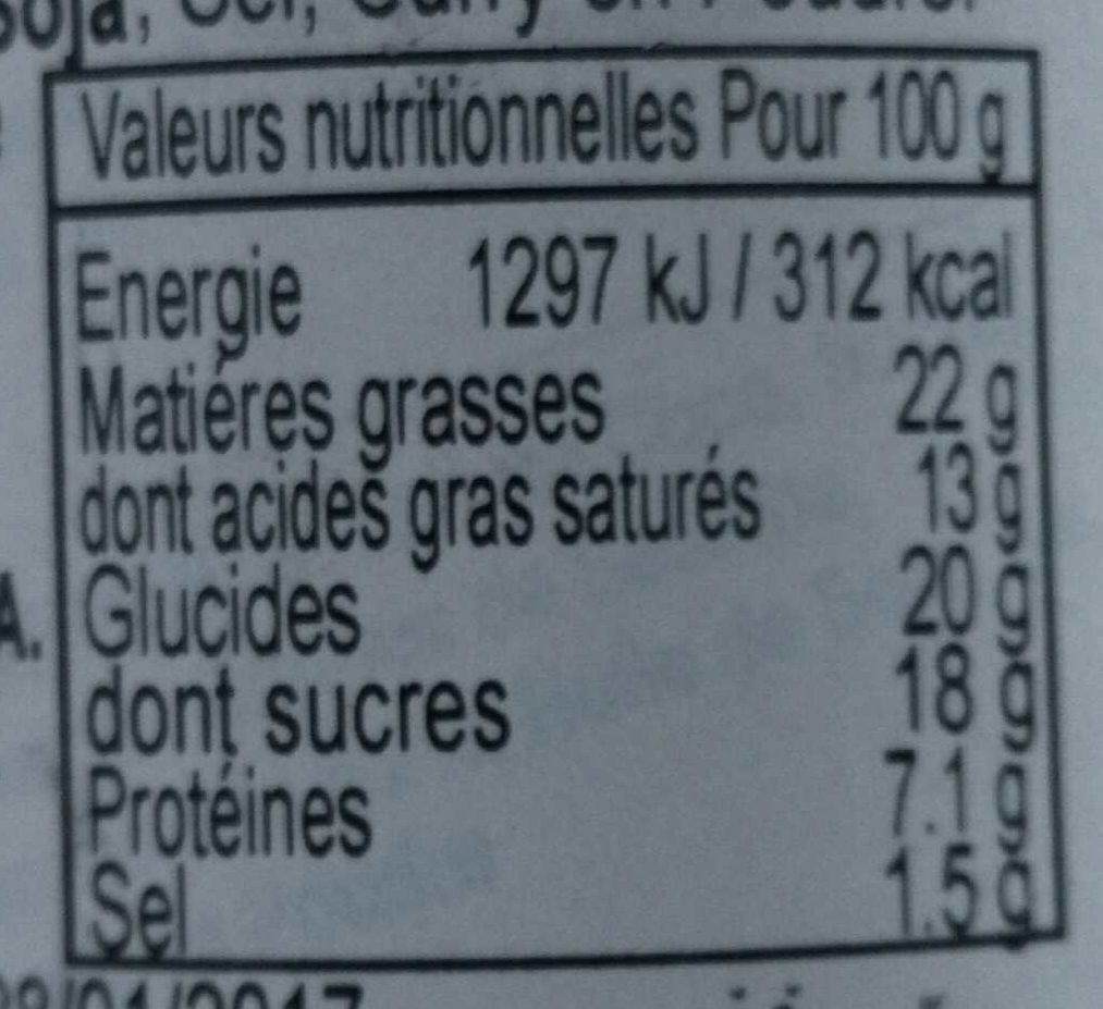 Satay - Informations nutritionnelles - fr