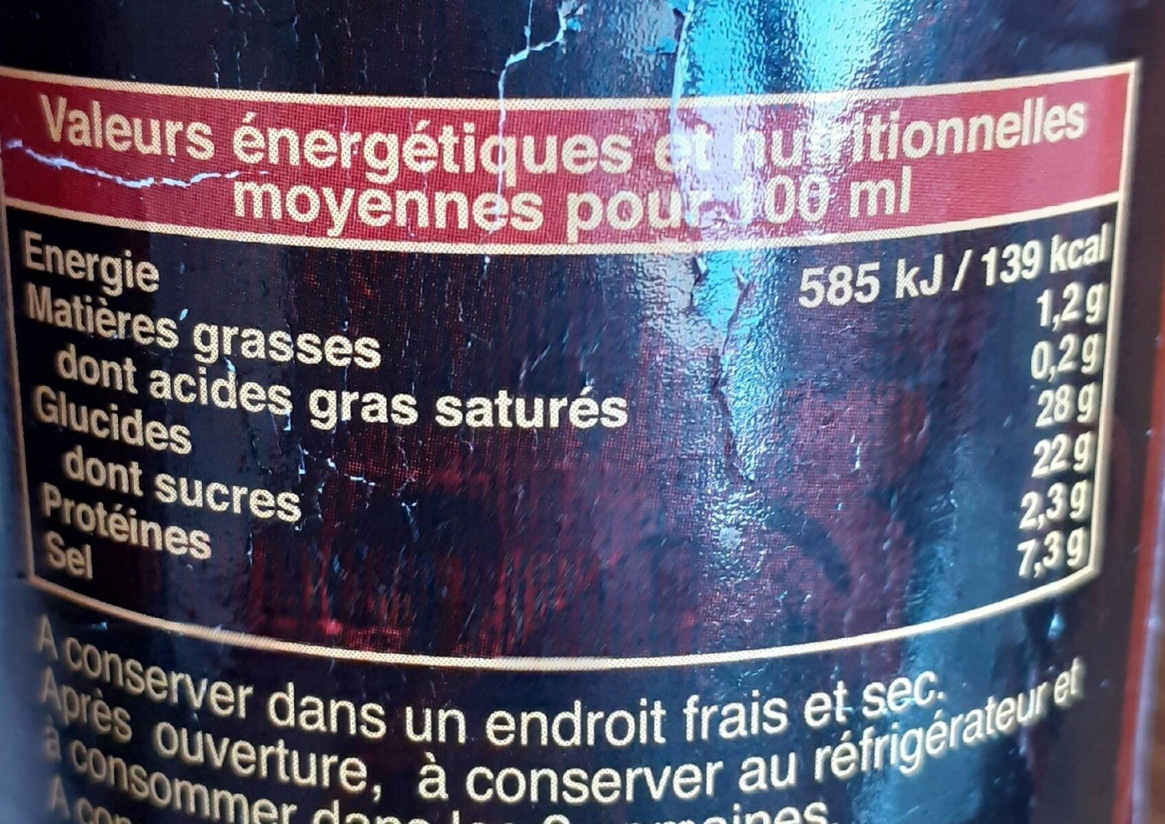 Exotic Food Scharfe Chili-sauce Spiracha - Nutrition facts - fr
